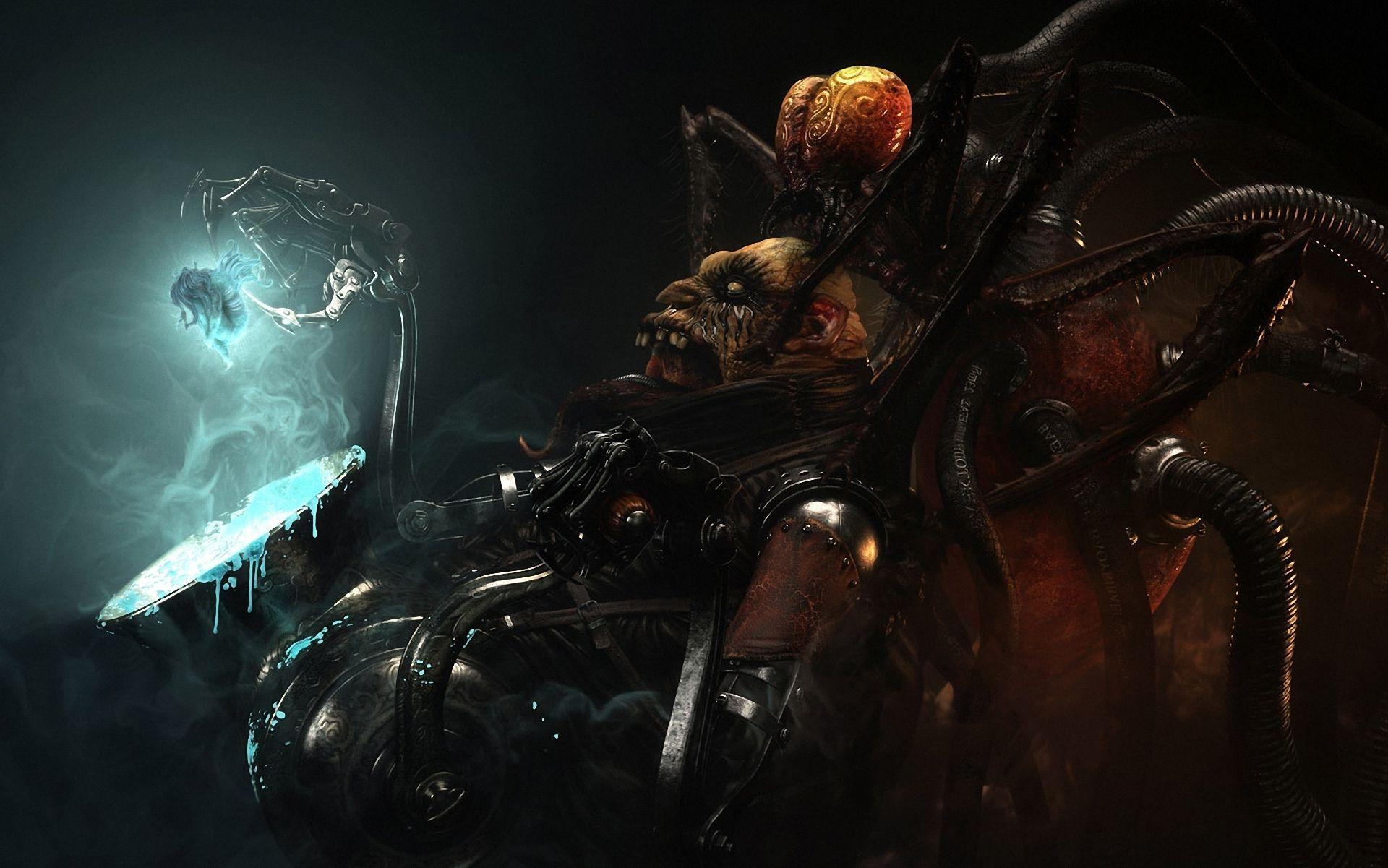 Sci fi science steampunk warriors monster creatures dark ...