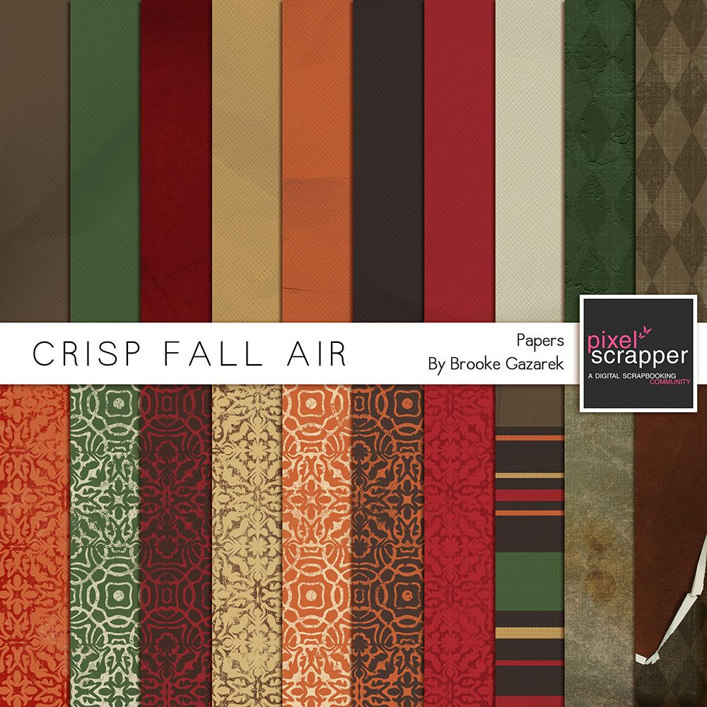 Crisp Fall Air Papers Kit by Brooke Gazarek