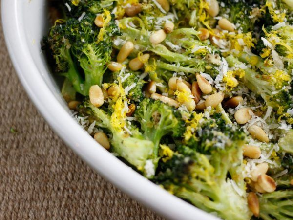 Spicy Garlic Broccoli With Pine Nuts | Recipes | Dr. Weil's Healthy Kitchen