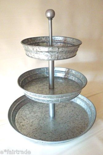 Galvanized 3 Tier Stand Mom Love This And I Know Brian Would Too