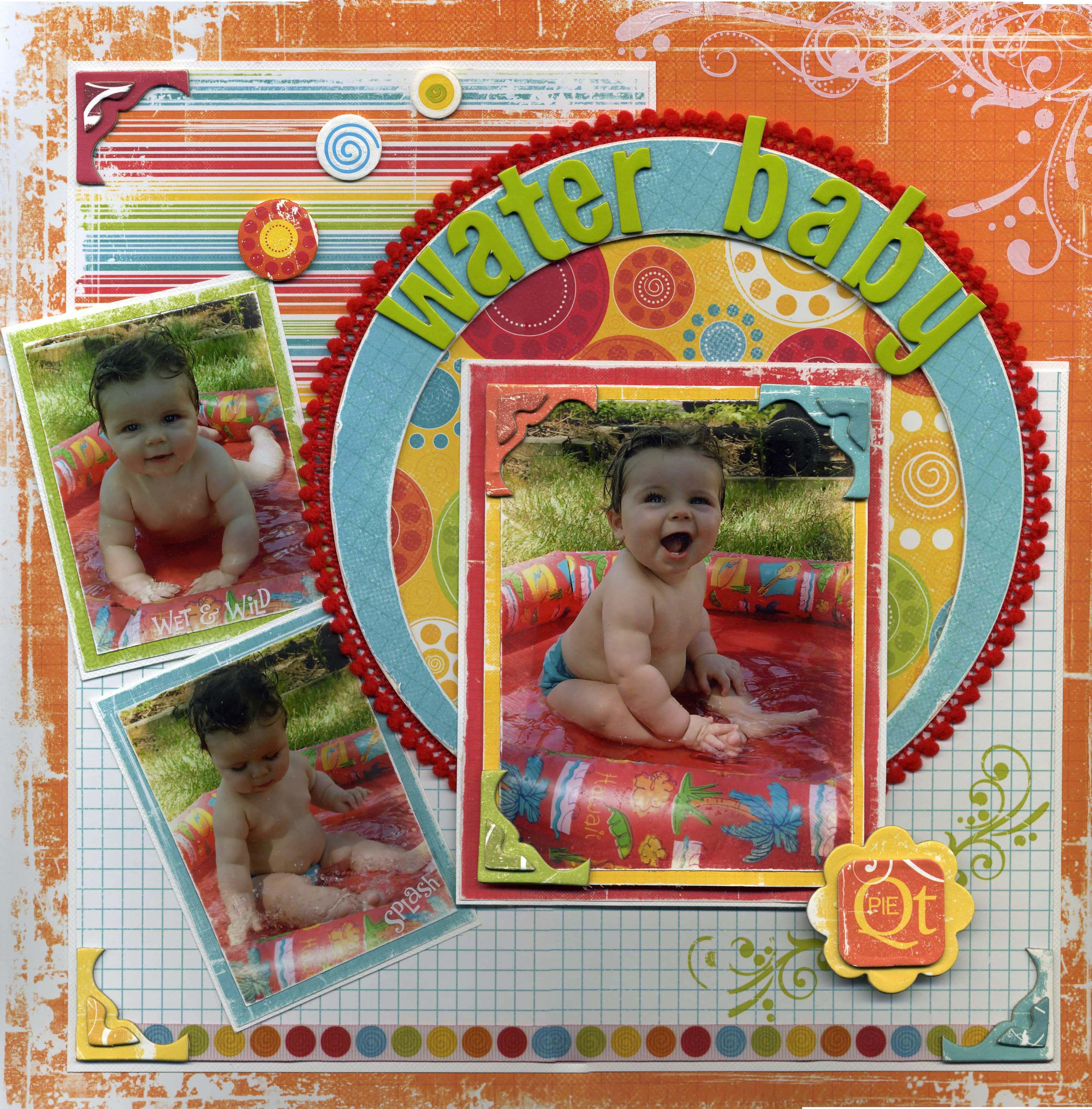 Baby scrapbook ideas on pinterest - Water Baby Scrapbook Com