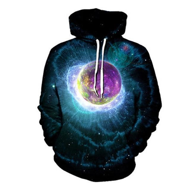 Trippy Space Hoodie - Galaxy Sweat Shirt - Music Festival Clothing - All Over Print - EDM Rave Clothes mpZ2Kq3