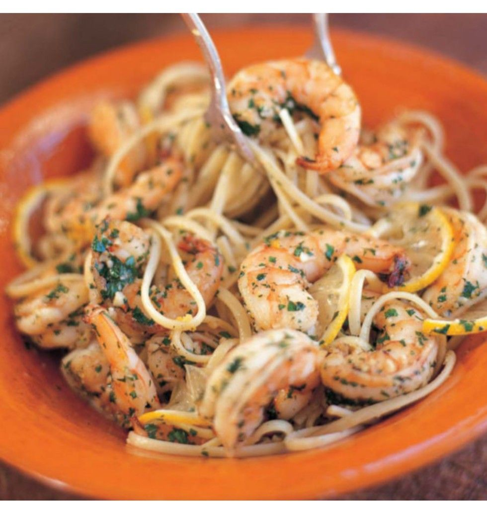 Linguine with Shrimp Scampi #shrimpscampi