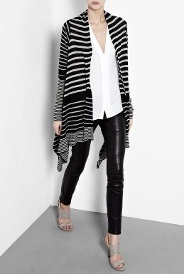 Day Nicole Stripe Waterfall Cardigan by DAY Birger Et Mikkelsen ...