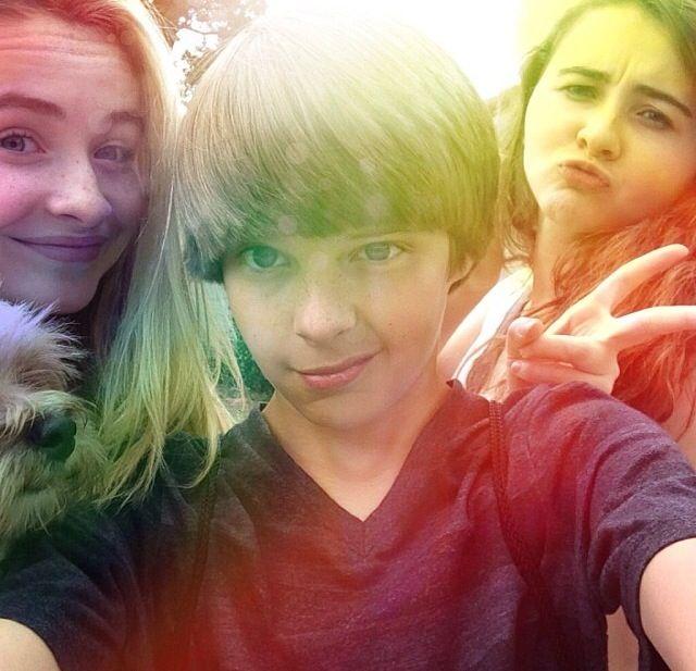 Corey with Sabrina and Sarah