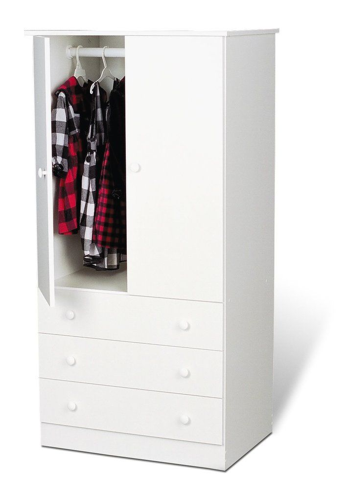 White Edenvale 3 Drawer Wardrobe Wholesale Furniture Brokers