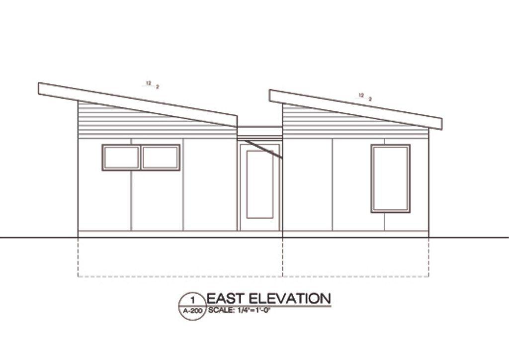 Modern Style House Plan 2 Beds 1 Baths 730 Sq Ft Plan 486 4 House Plans Floor Plan Design House Floor Plans