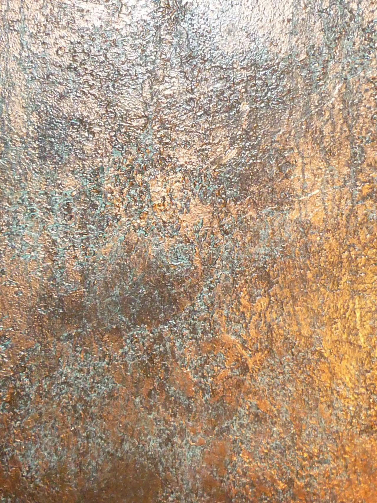 Textured Bronze Patina - Faux Finish Abstract Art Color & Texture In 2019 Walls
