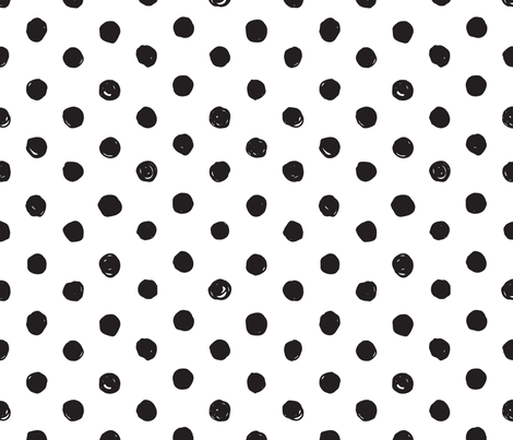 Colorful Fabrics Digitally Printed By Spoonflower Black And White Scribble Dot Medium In 2021 Polka Dot Background Background Pictures Black And White