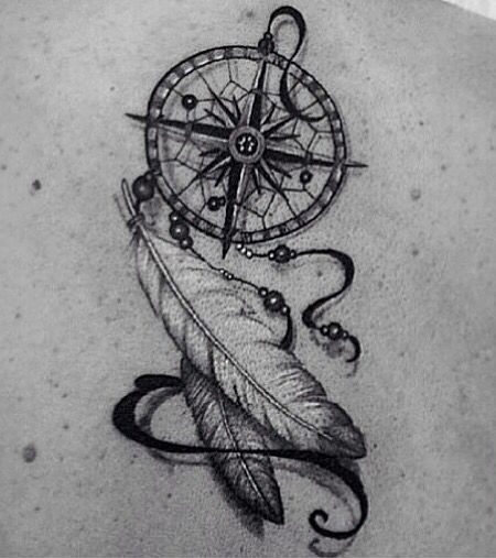 Dreamcatcher compass for the center instead of the lion tatoo dreamcatcher compass for the center instead of the lion gumiabroncs Image collections