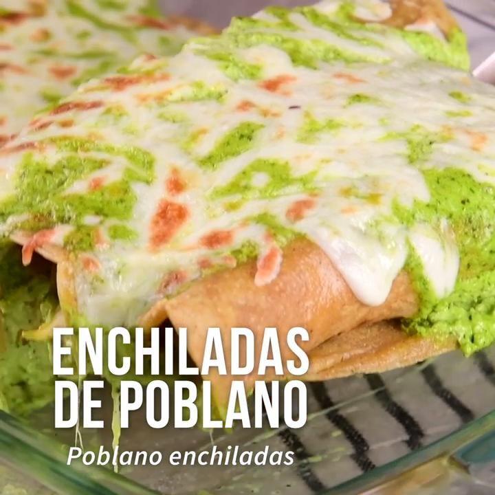 Enchiladas de Pollo con Chile Poblano