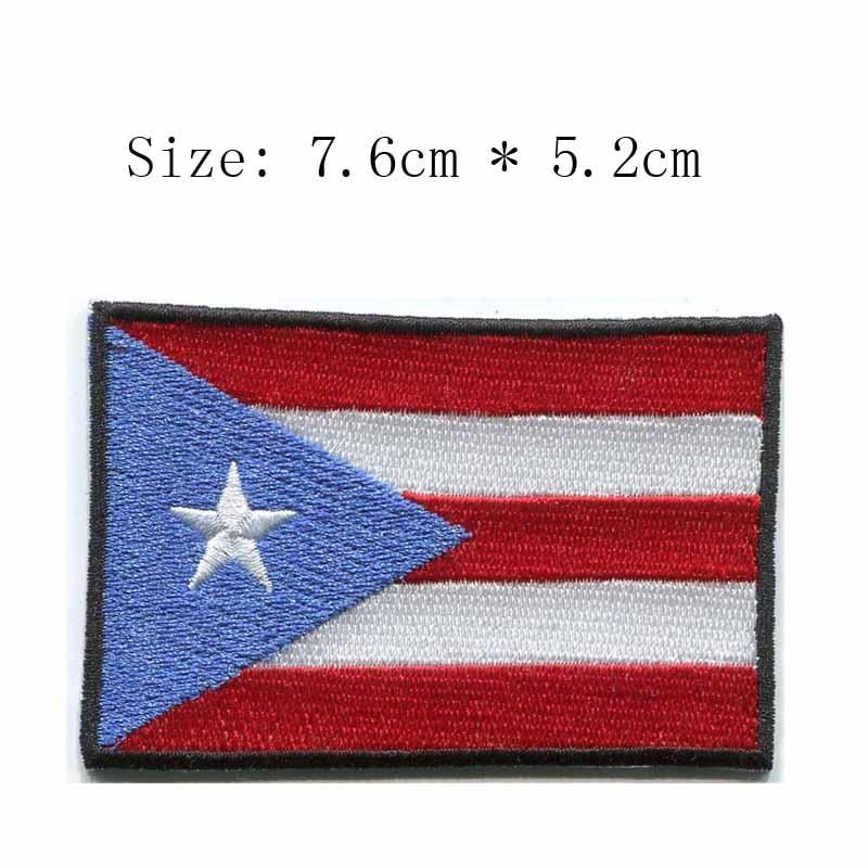 Wavy Flag of Puerto Rico Patch