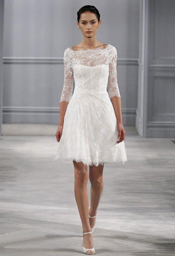 la robe de mari e courte est la nouvelle tendance de ces. Black Bedroom Furniture Sets. Home Design Ideas
