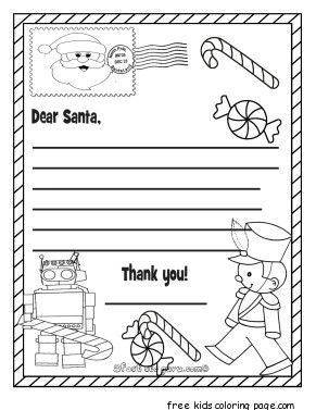 Printable Santa Wish List Delectable Printable Christmas Wish List Toys To Santa Claus  The Holidays .