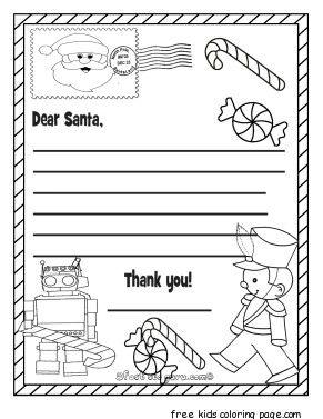 Printable Christmas Wish List To Santa Claus For Kids For Kids