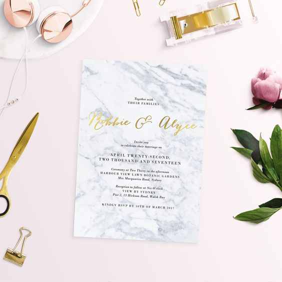 What is foil stamping foil printing foil wedding invitations marble invitations sail and swan studio wedding invitations australiawedding invitation designpastel stopboris Choice Image