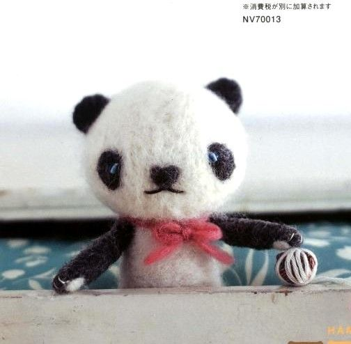 《Party with Felt Wool Animal Friends 》- Japanese craft book