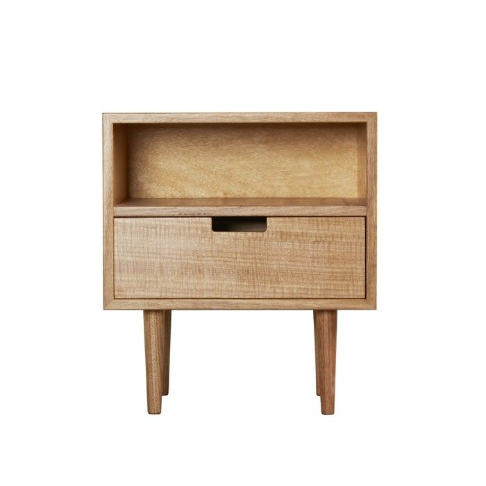 Ebb Bedside Table Solid Timber In Victorian Ash By Southwood