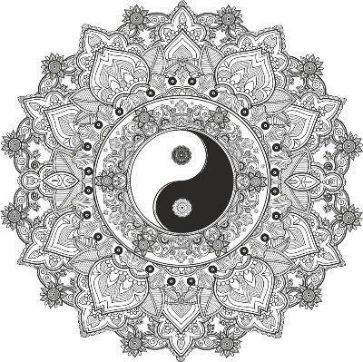 Mandala Yin Yang Free Vector - Amee House | Mandala ...