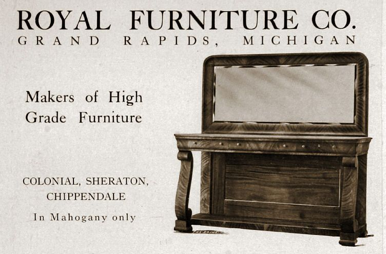 Bon Royal Furniture Co., Grand Rapids, Michigan 1892 1931