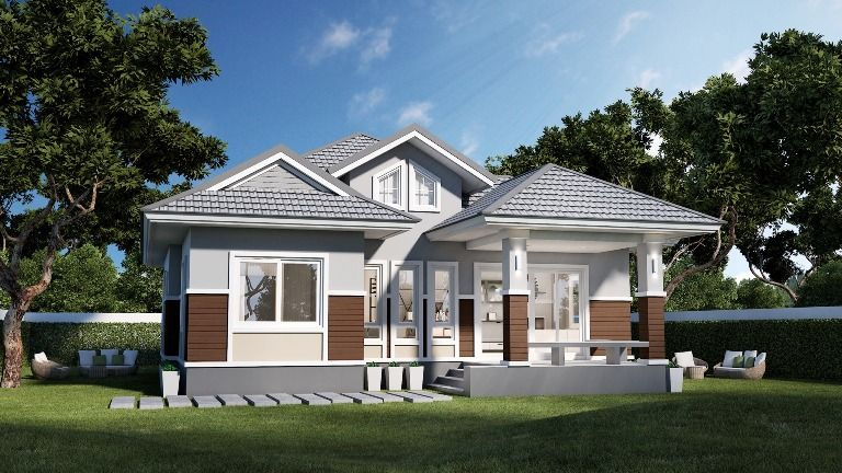 Well Designed Elevated Three Bedroom Bungalow House And Decors In 2020 Two Storey House Small House Design House Design