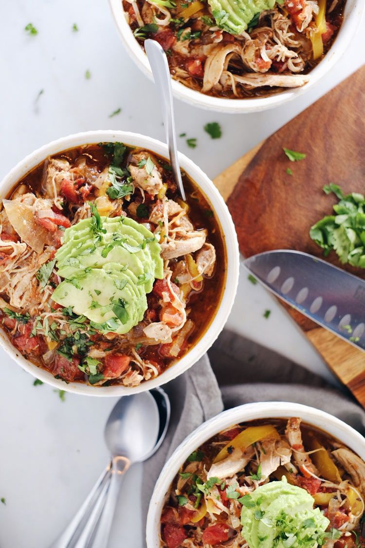 Crockpot Chicken Enchilada Soup Paleo Whole30 Keto