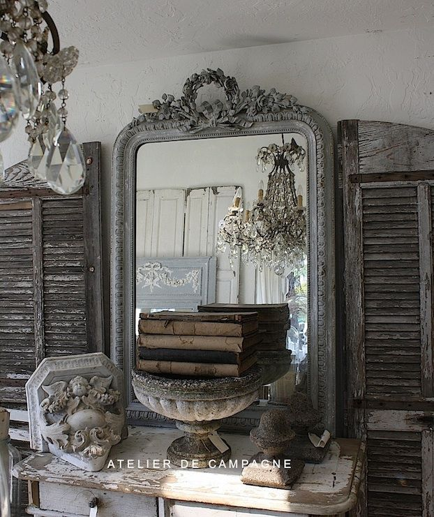 vintage mirror~shutters~shabby wow