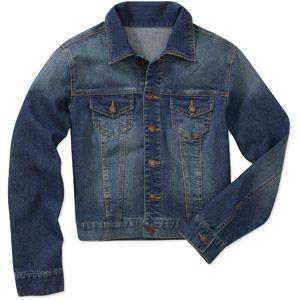 30cb4a4c6fa Faded Glory Women s Plus-Size Classic Denim Jacket walmart.com ...