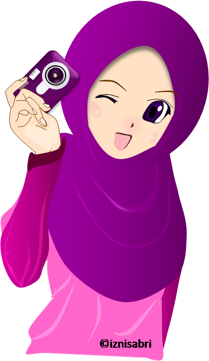 Muslimah Photographer By Nur92 On Deviantart Anime Muslim Hijab Cartoon Islamic Cartoon