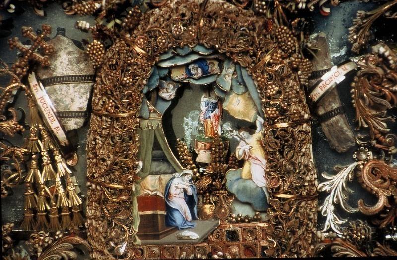74003.jpg - Annonciation (détail). Annonciades célestes Lyon XVIIIème