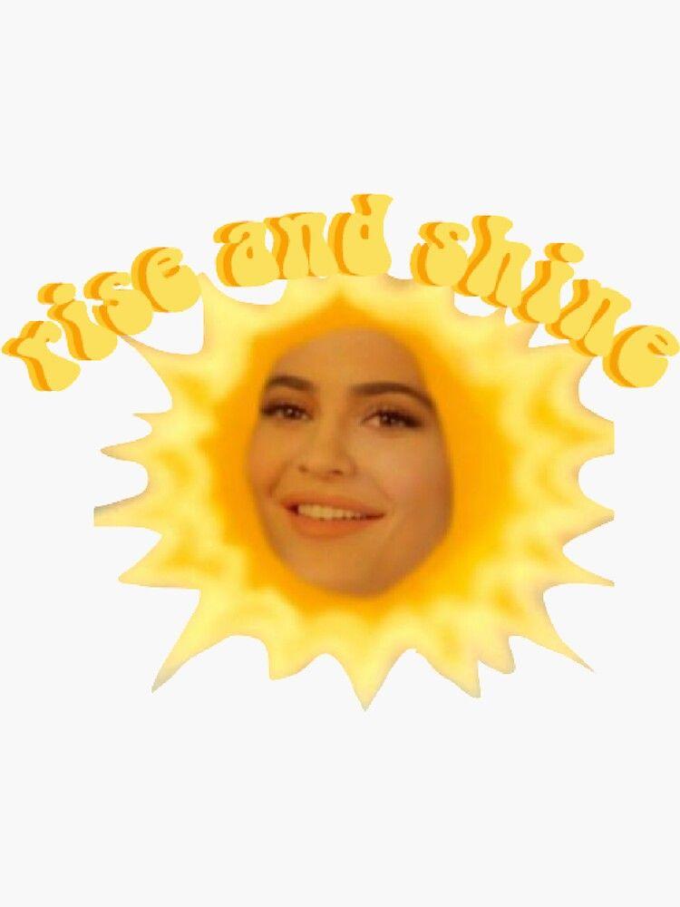 Rise And Shine Kylie Jenner Sticker By Ava Dilo Colagem De Parede Adesivos Legais Adesivos Sticker Kylie jenner eye roll wallpaper