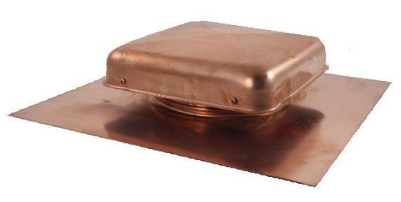 Copper Roof Vent 38 Sq In Net Free Area Roof Vents Copper Roof Attic Ventilation