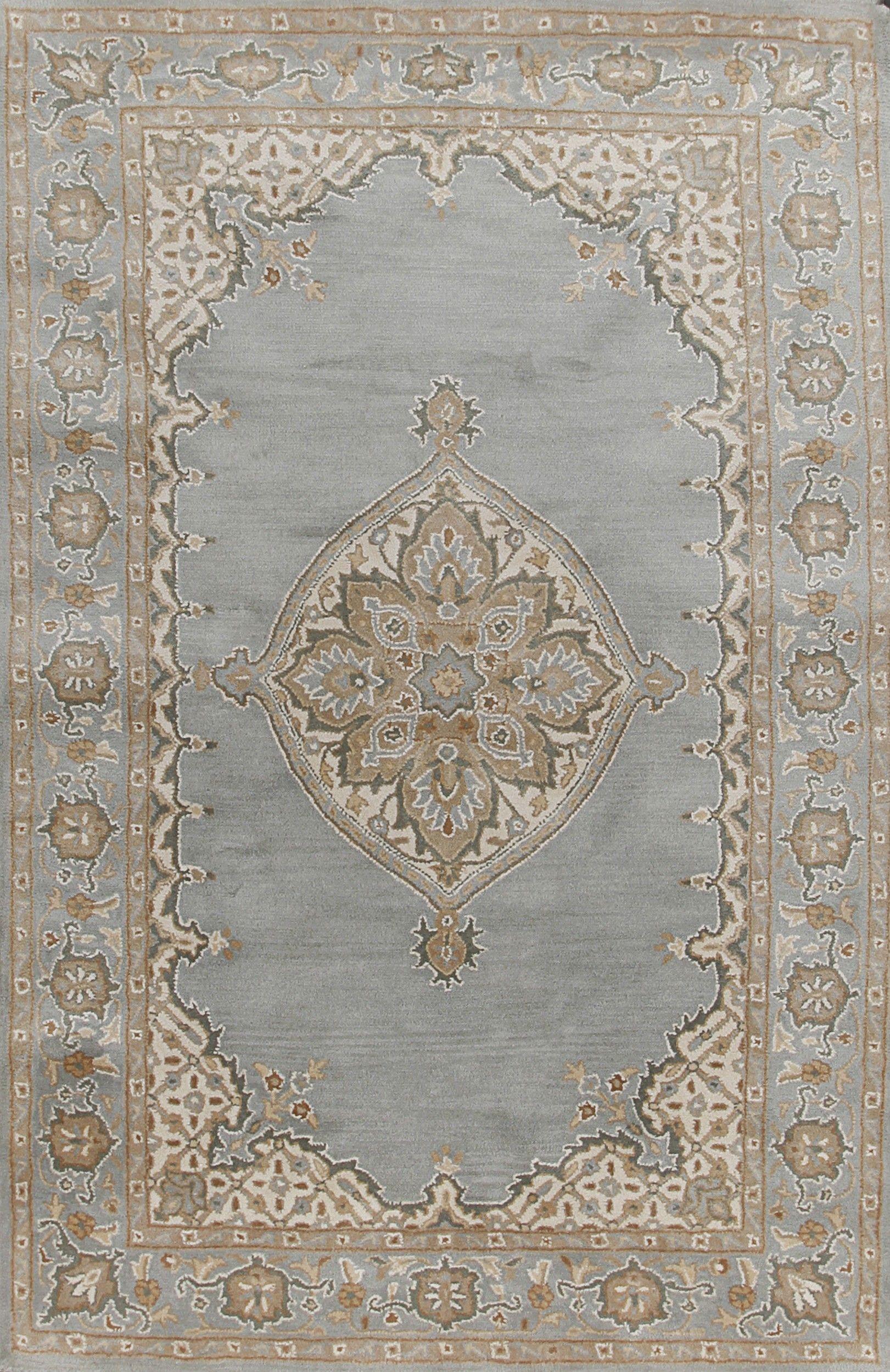 Rugsville Mia Persian Blue Beige Wool Rug 11728