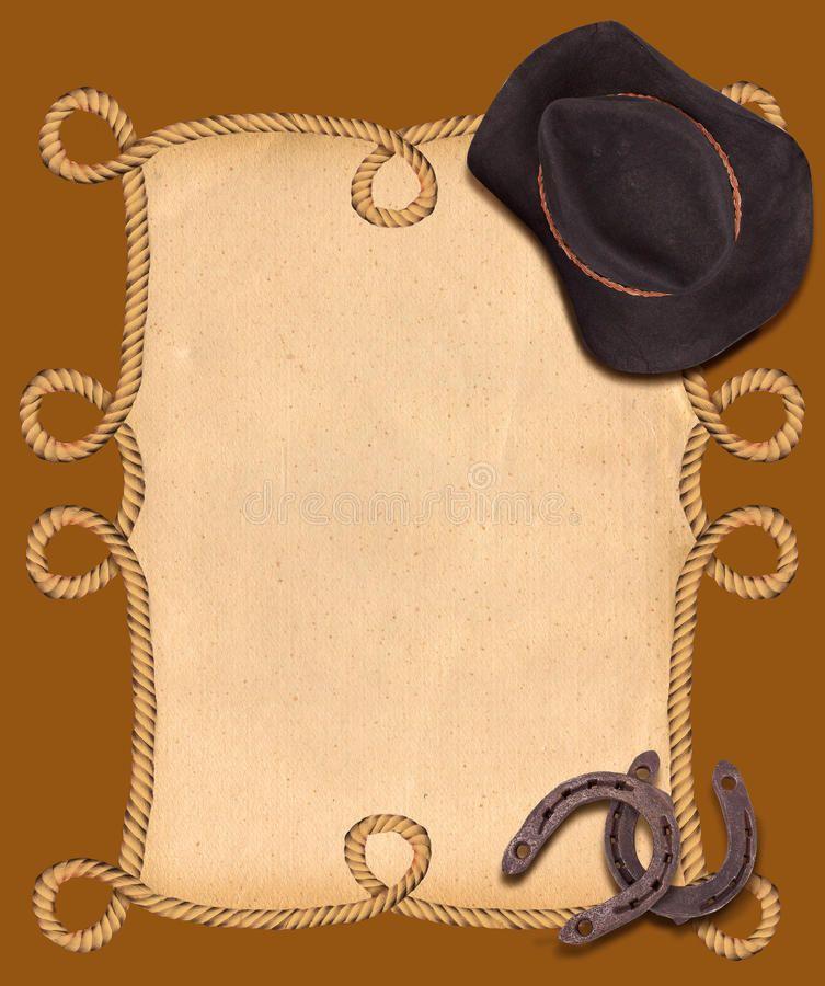 Foto acerca Fondo occidental con el sombrero y las herraduras de ...