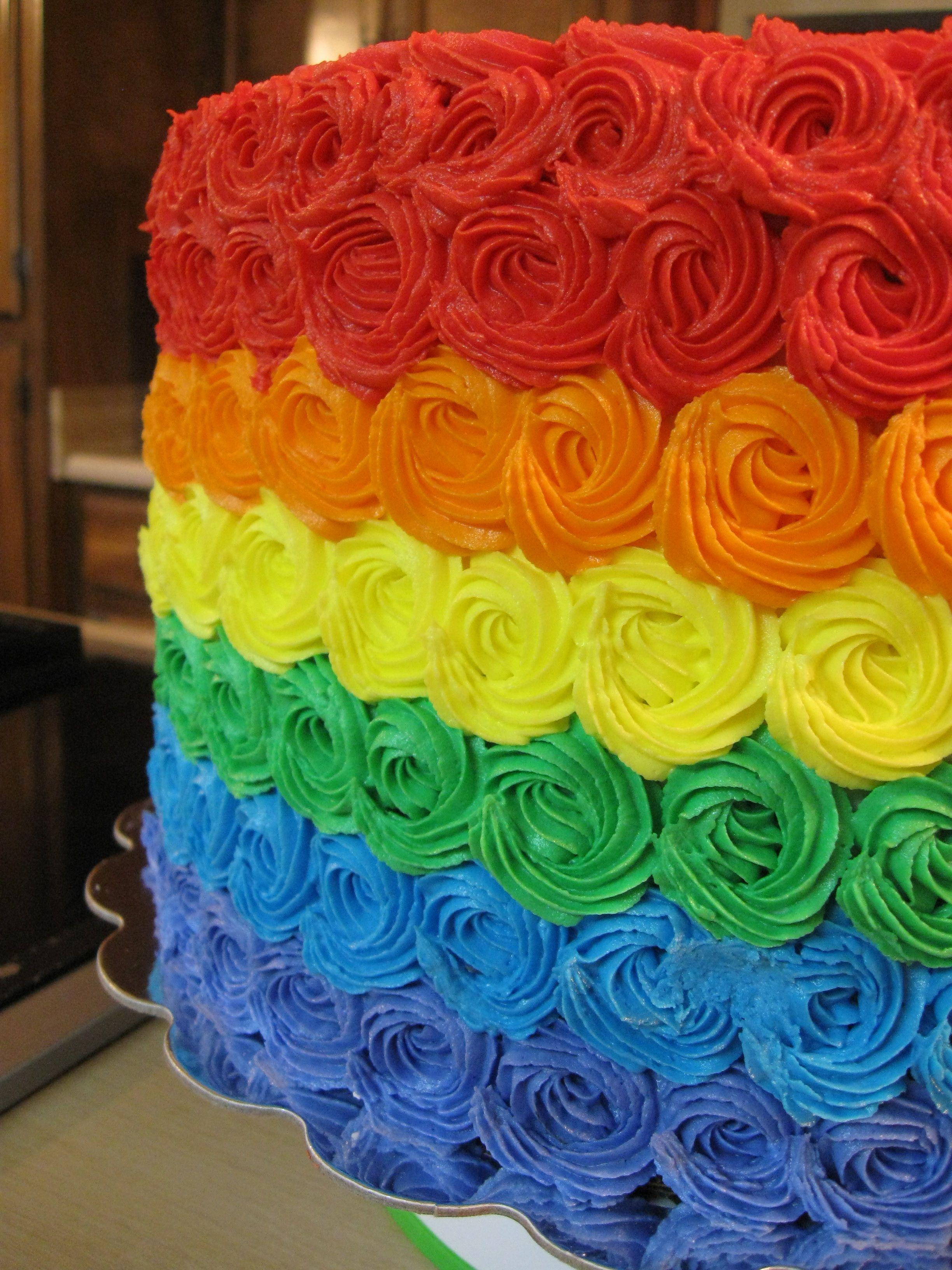 Rainbow cake idea - photo only.