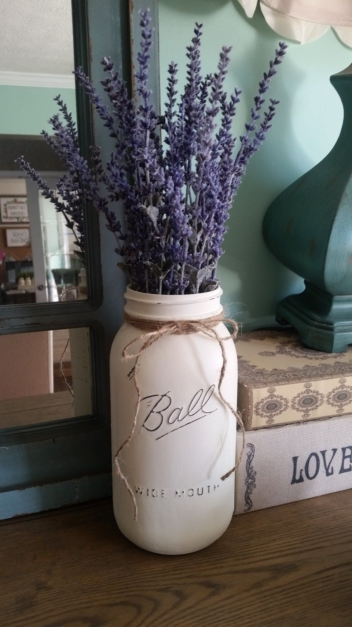 Lavender mason jar table decor images
