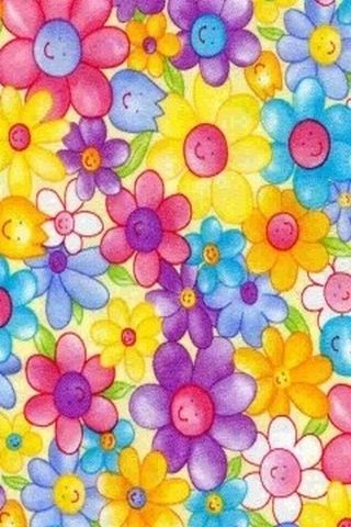 cute flowers | Cute Wallpapers For Mobile | Girly Cell Phone Backgrounds 240x320 | Girly iPhone ...