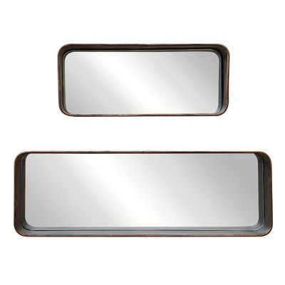 Creative Co-Op Turn of the Century 2 Piece Shelves Mirror Set