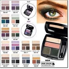 New True Color Technology Eye shadow Quads by AVON.  Highly pigmented colors