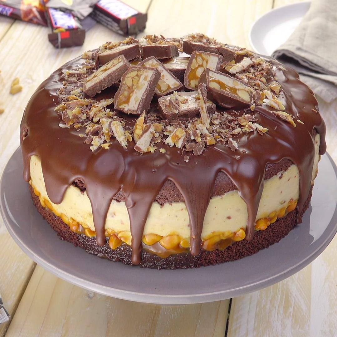 Cremige Snickers-Torte #tortenrezepte