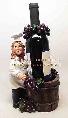 Woman Chef Now You're Cooking Wine Holder Guzzler Bar Kitchen Home Decor Statue