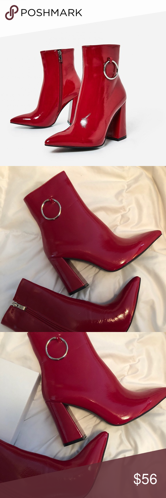 eef17610d75 Ego Red Patent Boots