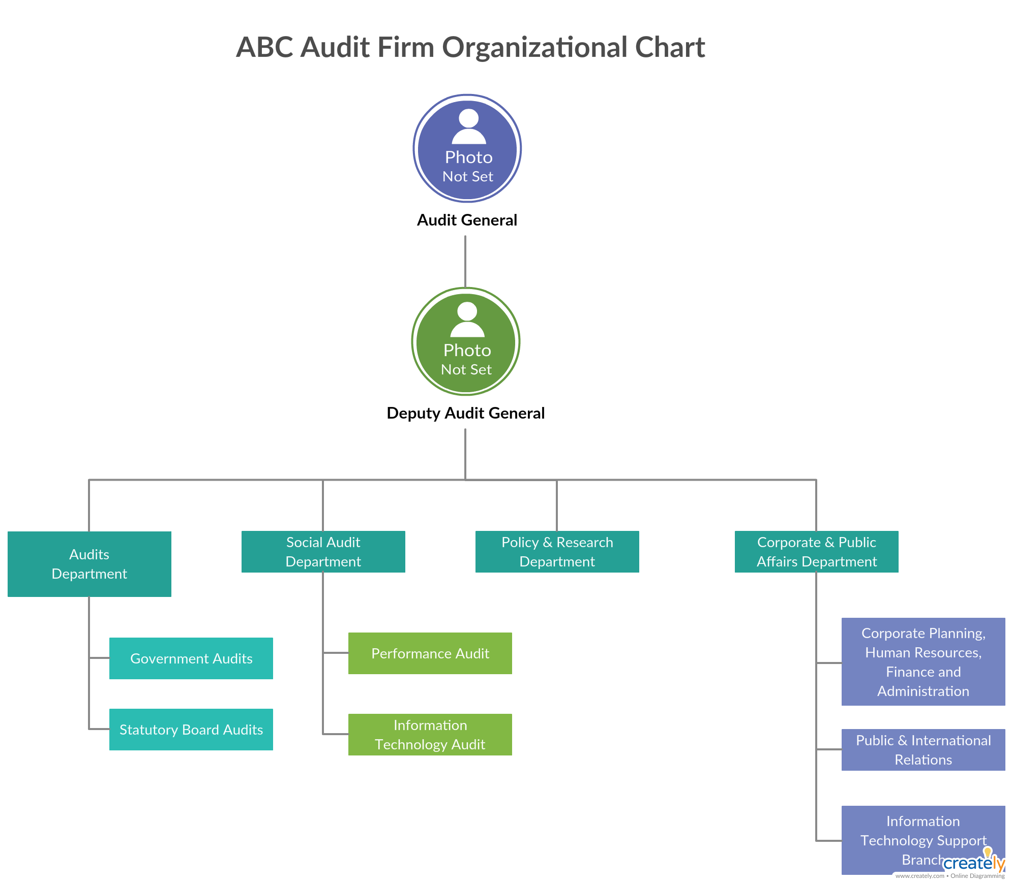 org chart for company audit