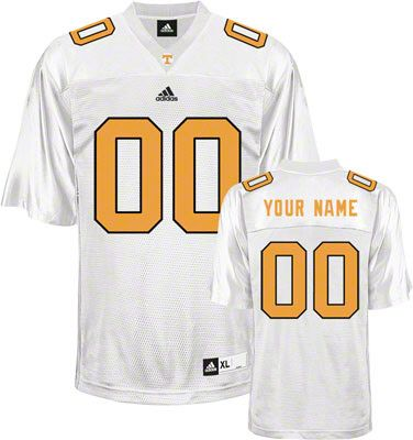 9c44e6a7bc03 Tennessee Volunteers Football Jersey Customizable adidas White Replica Football  Jersey