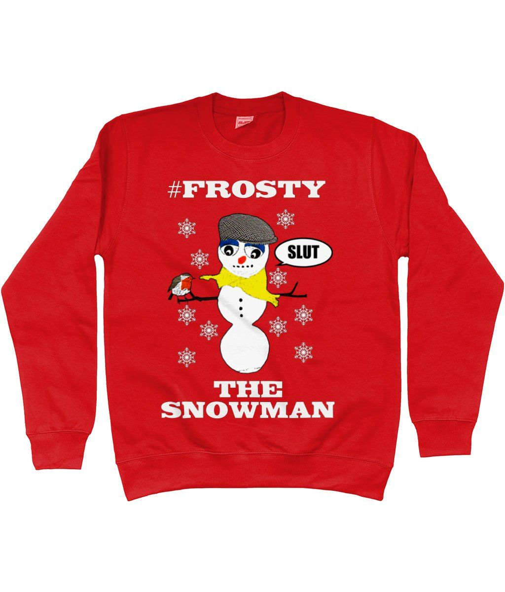 76ac8d285f Rude, Funny, Hilarious, Christmas Jumper, #Frosty The Snowman! Robin Red  Breast,