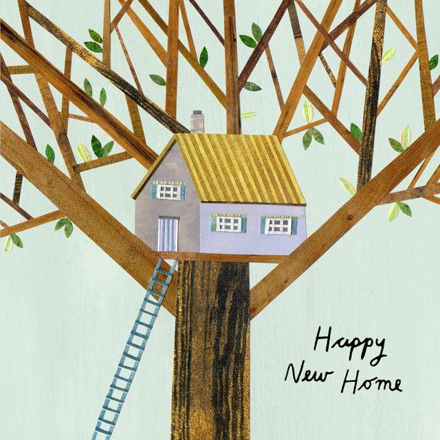 Lianne Harrison New Home Treehouse Greeting Card