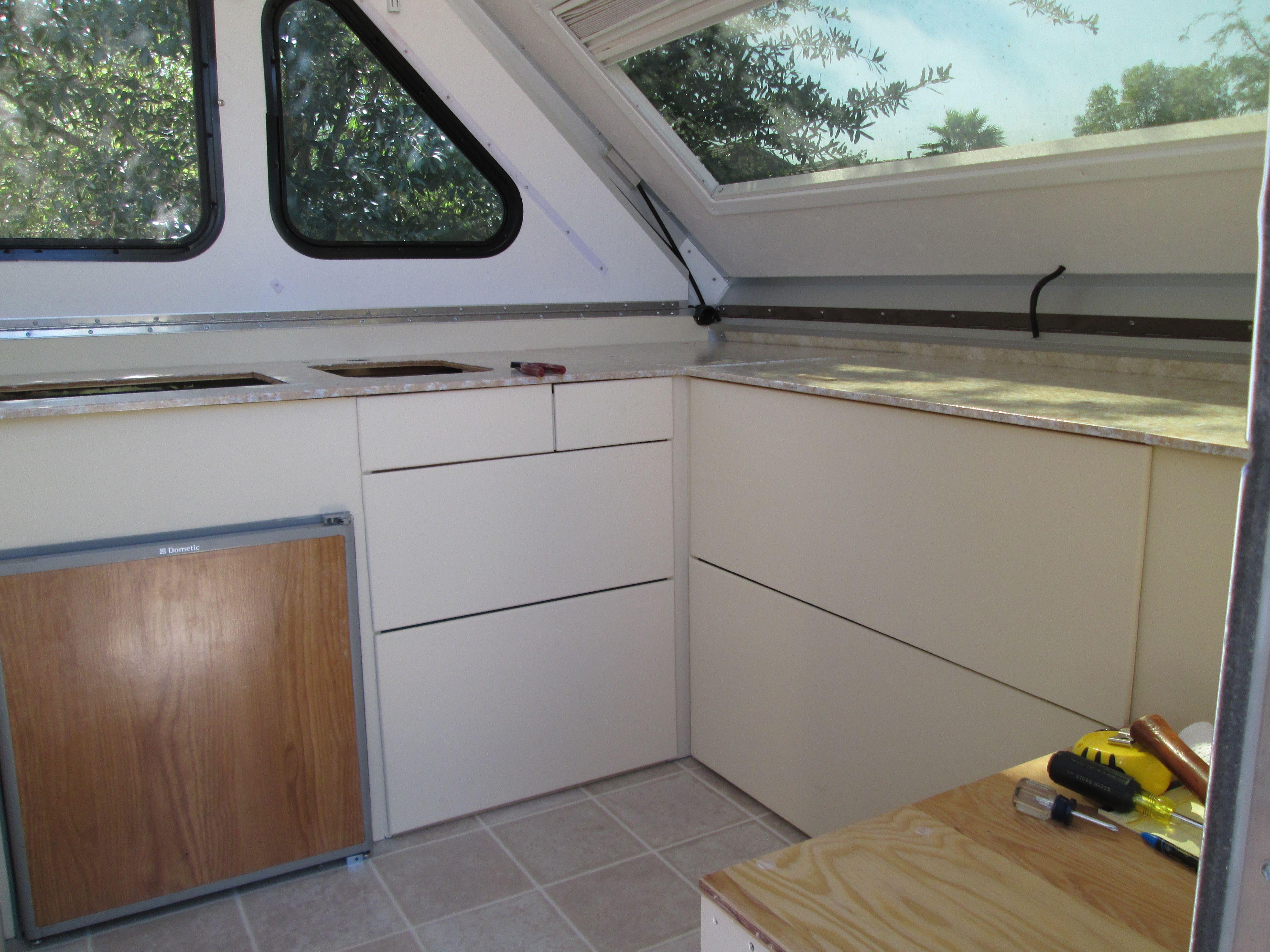 Remodeling Our A Liner Camper Decor Remodeled Campers A Frame