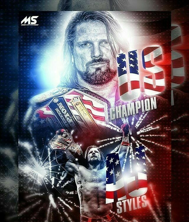 fe57442ad5082 AJ Style new WWE US Champion