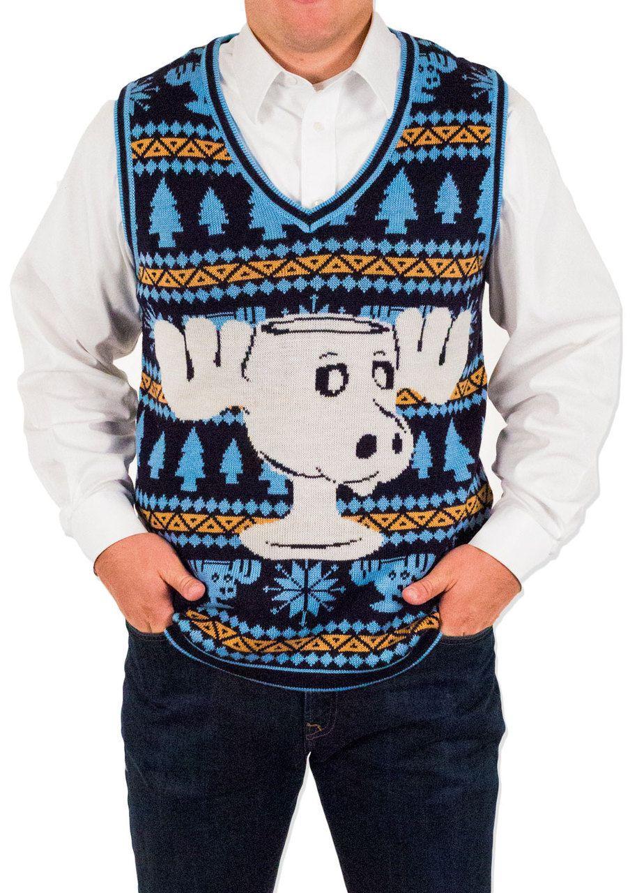 Festified Men's Christmas Vacation Eggnog Sweater Vest in