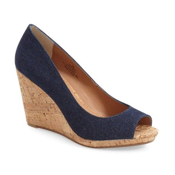 57f79d426f0e Caslon  Devin  Peep Toe Wedge ( 80) via Polyvore featuring shoes ...